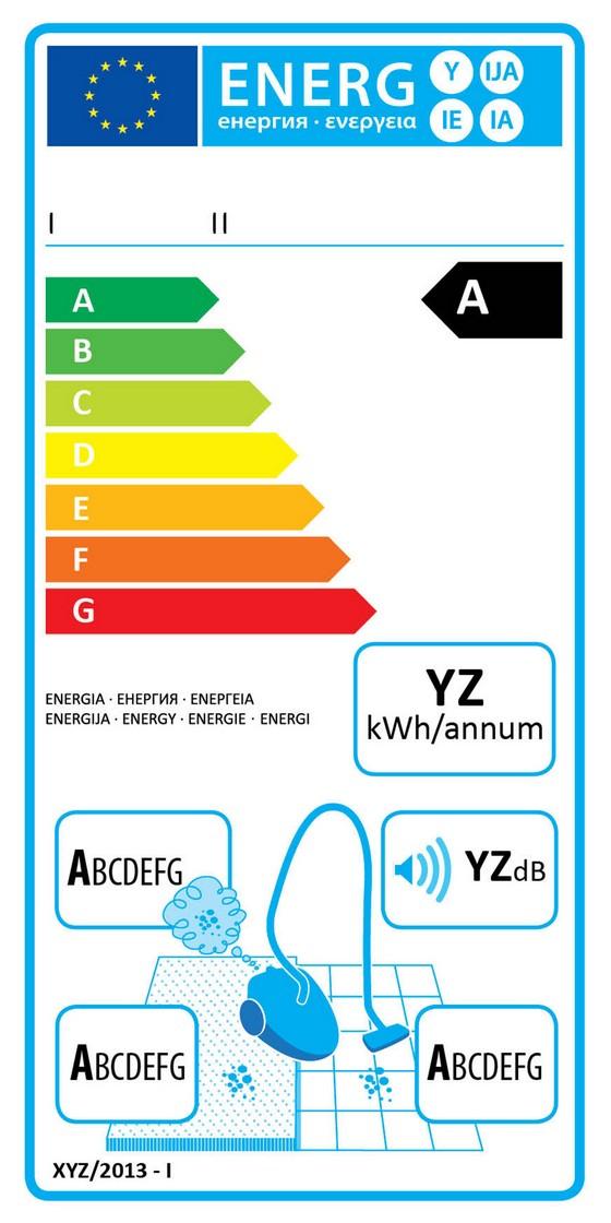 etiquette energie aspirateur